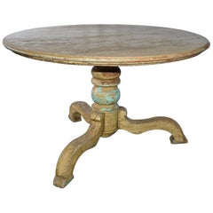 Antique Rustic Pedestal Dining Table
