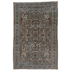 Antique Rustic Persian Mahal Carpet, circa 1930s