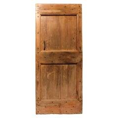 Antique Rustic Poplar Door, 19th Century, Italy