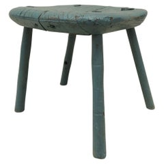 Antique Rustic Primitive Painted Stool
