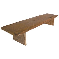 Antique Rustic Wooden Bench or Coffee Table