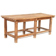 Antique Rustic Work Table Kitchen Island