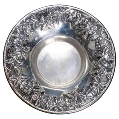 Antique S. Kirk & Sons Sterling Silver Floral Reposse Bowl, circa 1890