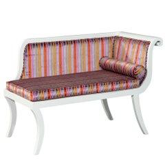 Antique Sabre Leg Bedroom Chaise Lounge