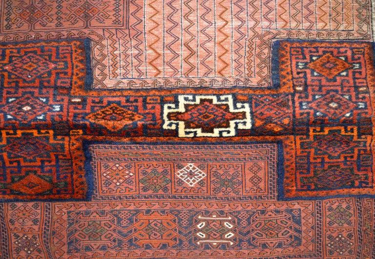 Vegetable Dyed Antique Saddlebag with Soumak and Bakhtiari Persian Carpet Weaves, circa 1890 For Sale