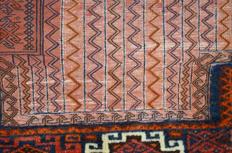 Wool Antique Saddlebag with Soumak and Bakhtiari Persian Carpet Weaves, circa 1890 For Sale