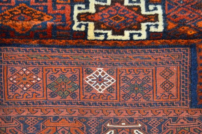 Antique Saddlebag with Soumak and Bakhtiari Persian Carpet Weaves, circa 1890 For Sale 1