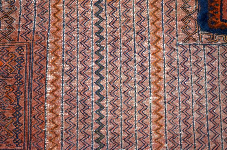Antique Saddlebag with Soumak and Bakhtiari Persian Carpet Weaves, circa 1890 For Sale 2