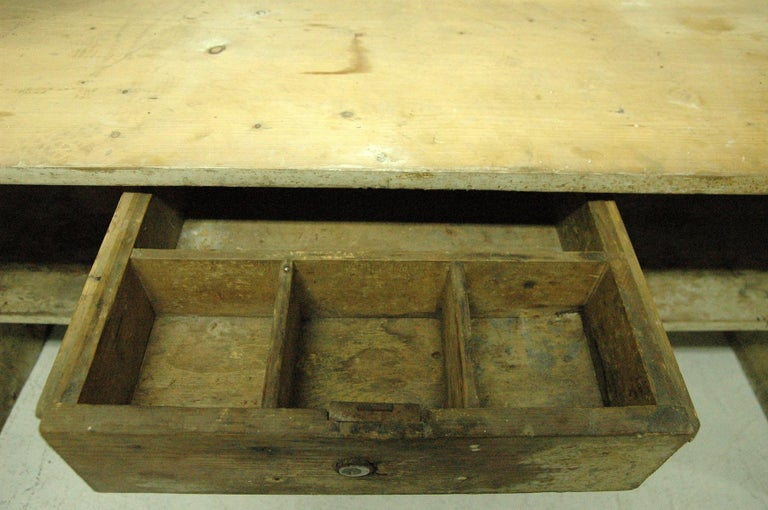 Antique Sales Counter, Work Table from the 1920s, Bohemia For Sale 3