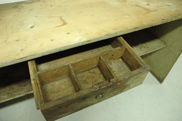 Antique Sales Counter, Work Table from the 1920s, Bohemia For Sale 4