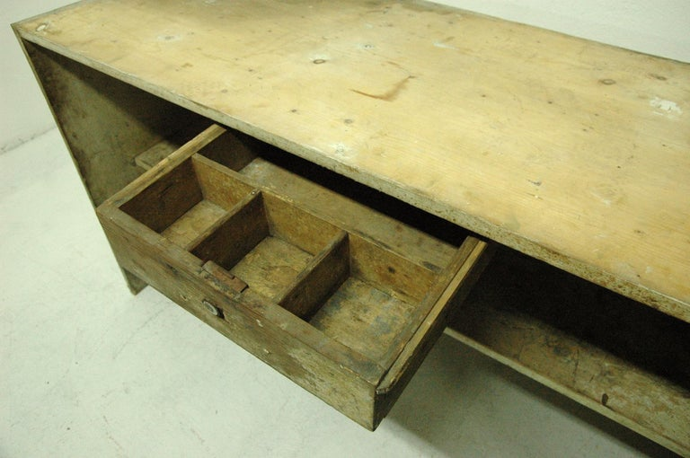 Antique Sales Counter, Work Table from the 1920s, Bohemia For Sale 5