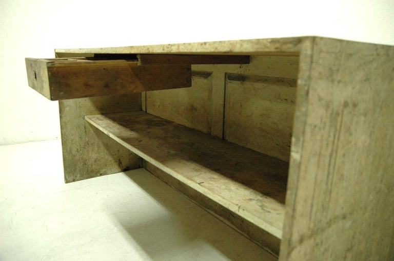 Antique Sales Counter, Work Table from the 1920s, Bohemia For Sale 6