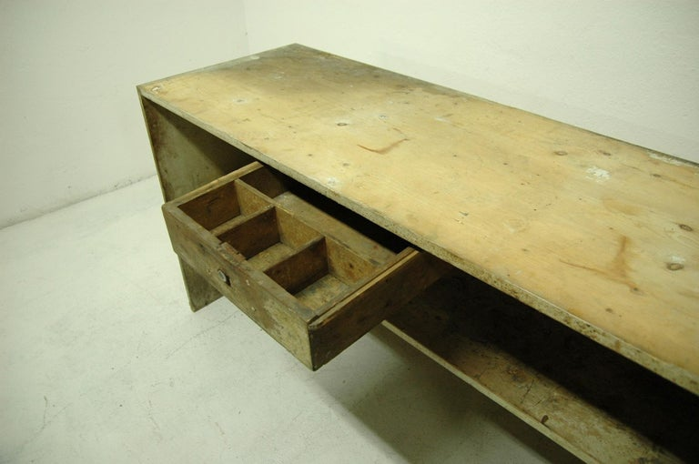 Antique Sales Counter, Work Table from the 1920s, Bohemia For Sale 7