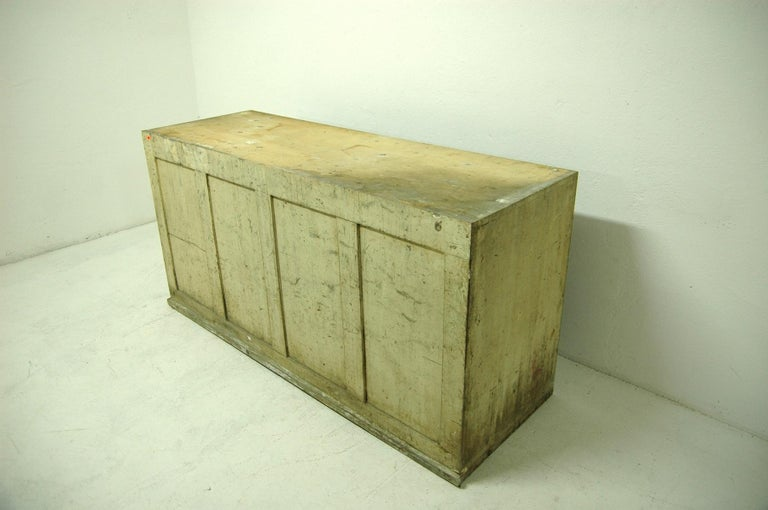 Antique Sales Counter, Work Table from the 1920s, Bohemia For Sale 10