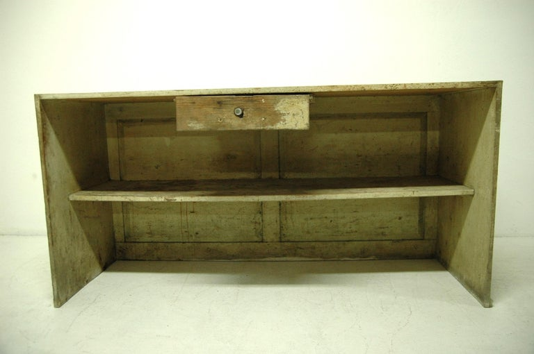 Industrial Antique Sales Counter, Work Table from the 1920s, Bohemia For Sale