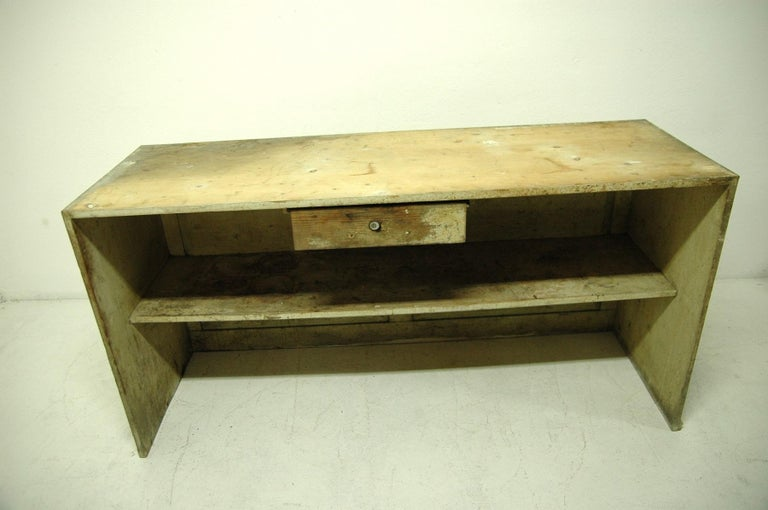 Antique Sales Counter, Work Table from the 1920s, Bohemia In Fair Condition For Sale In Prague 8, CZ