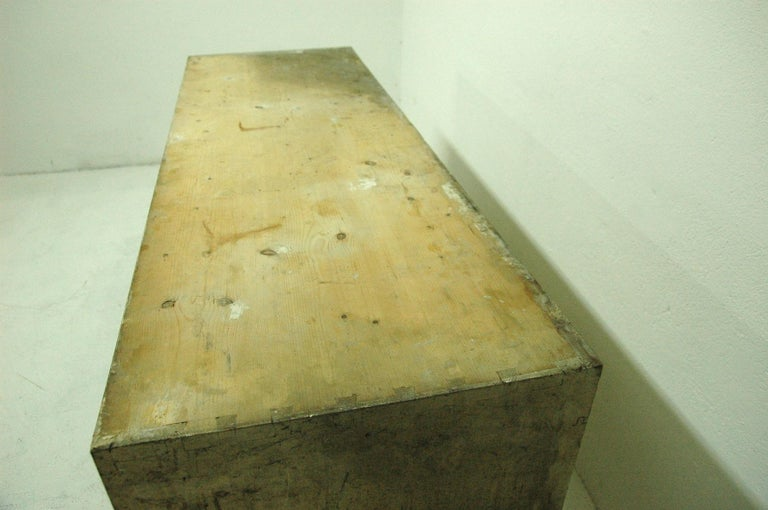 Wood Antique Sales Counter, Work Table from the 1920s, Bohemia For Sale