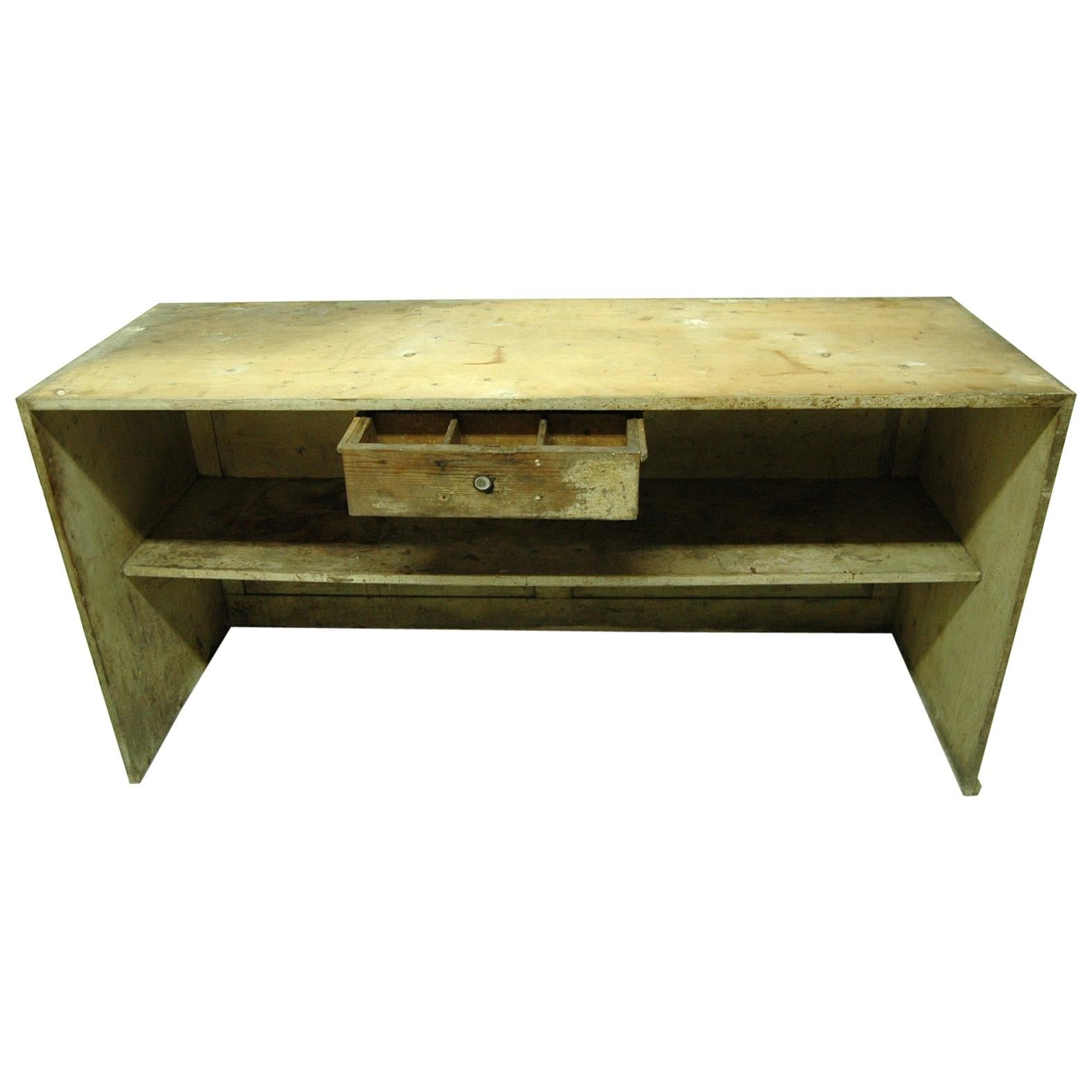 Antique Sales Counter, Work Table from the 1920s, Bohemia