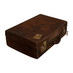 Antique Salesman's Case, English, Leather, Travel Suitcase Edwardian, circa 1910