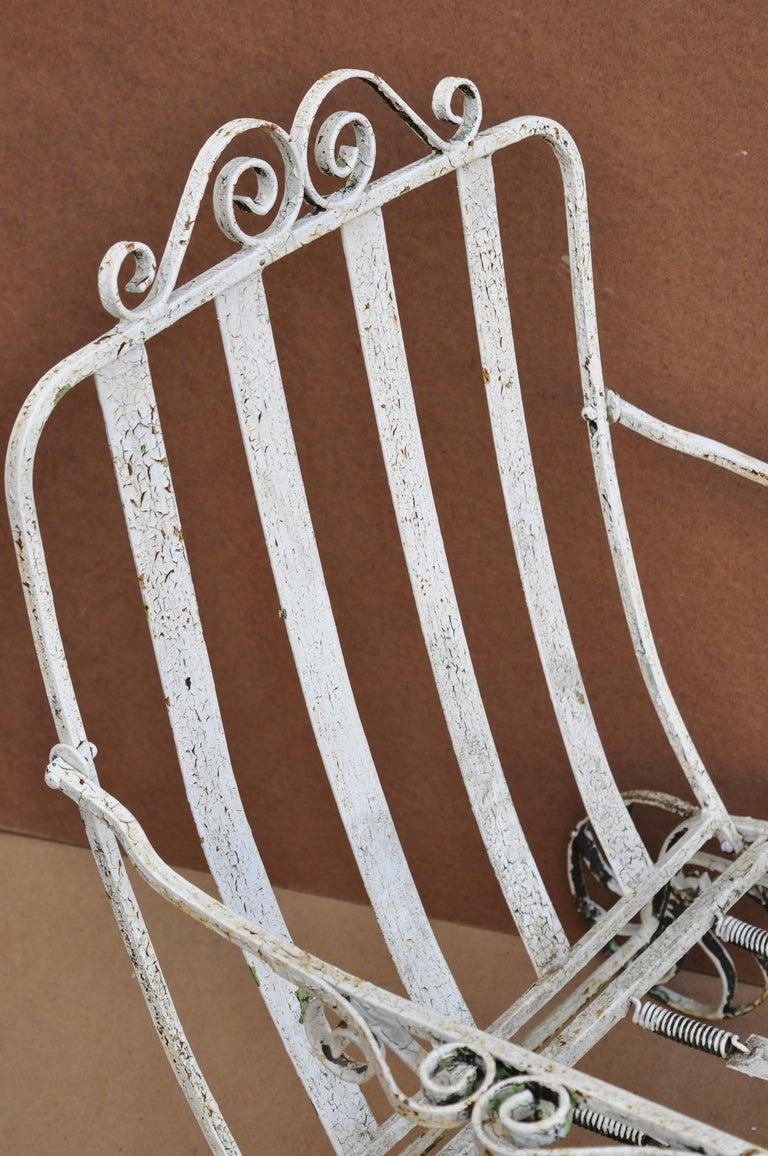 Antique Saltertini Fancy Wrought Iron Art Nouveau