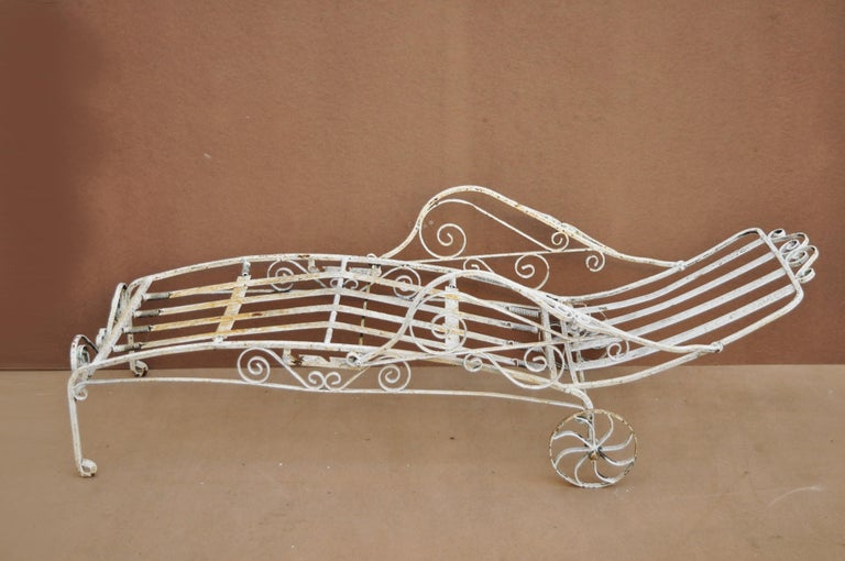 Antique Saltertini Fancy Wrought Iron Art Nouveau