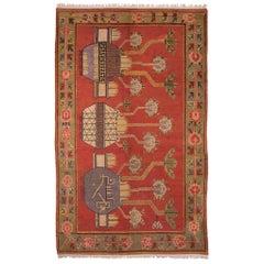 Antique Samarkand Carpet, circa 1930