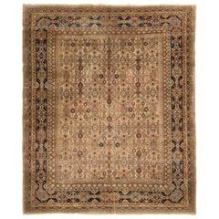 Antique Samarkand Khotan 1920s Geometric Wool Rug