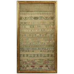 Antique Sampler, 1721 Alphabet Sampler by Judeth Skinner
