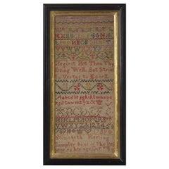 Antique Sampler, 1739, by Elizabeth Keeling