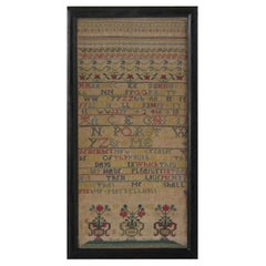 Antique Sampler, 1742, by Mary Ellicott