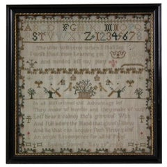 Antique Sampler, 1780 by Lydia Dawes