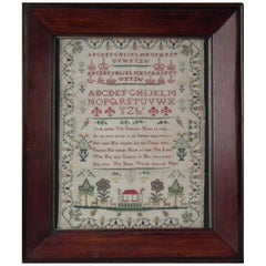 Antique Sampler, 1801 by Sally Phipps