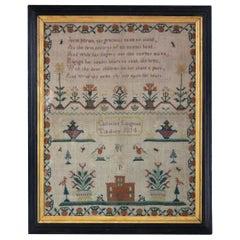 Antique Sampler, 1814, by Christian Langford