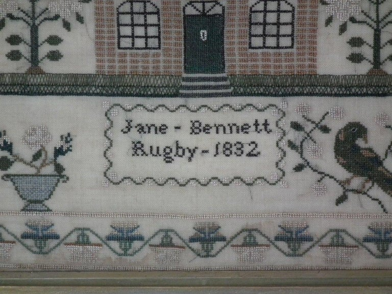 English Antique Sampler, 1832 by Jane Bennett
