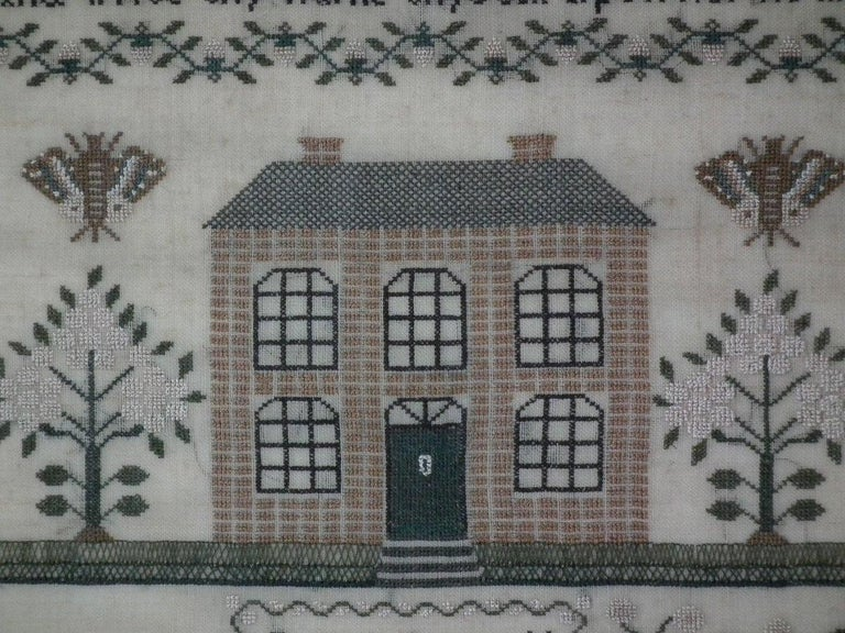 Needlework Antique Sampler, 1832 by Jane Bennett