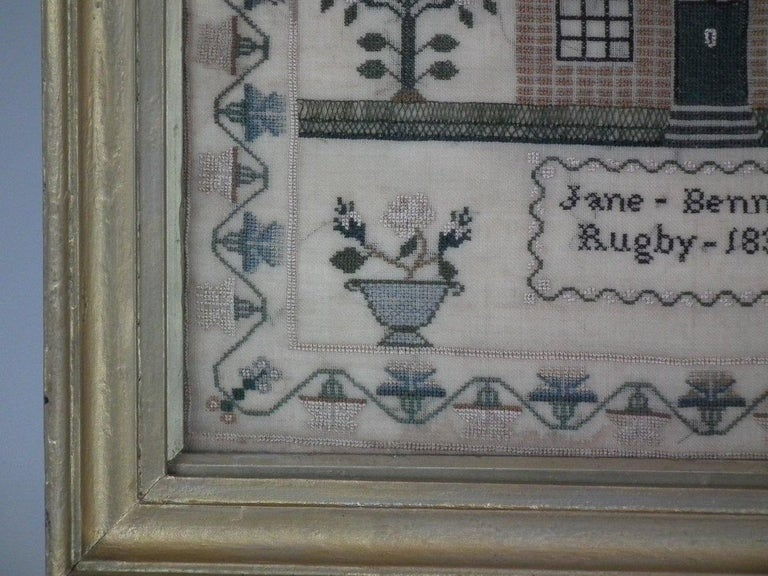 Antique Sampler, 1832 by Jane Bennett In Good Condition In Chelmsford, Essex