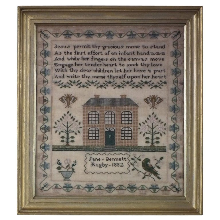 Antique Sampler, 1832 by Jane Bennett