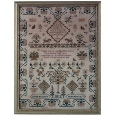 Antique Sampler, 1832, by Sarah Pountain