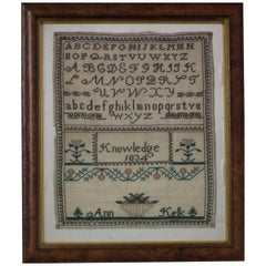 Antique Sampler, 1834 by Ann Kelk