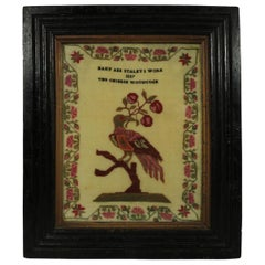 Antique Sampler, 1837, Woodcock by Mary Staley