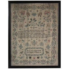 Antique Sampler, circa 1830, Mary Ann Papworth, on Britain