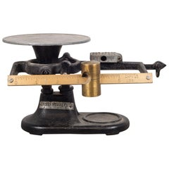 Antique San Francisco Brass and Cast Iron Balance Scale, circa 1930