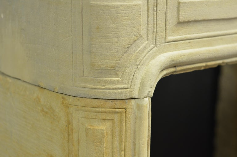 Antique Sandstone Louis XVI Fireplace Mantel For Sale 11
