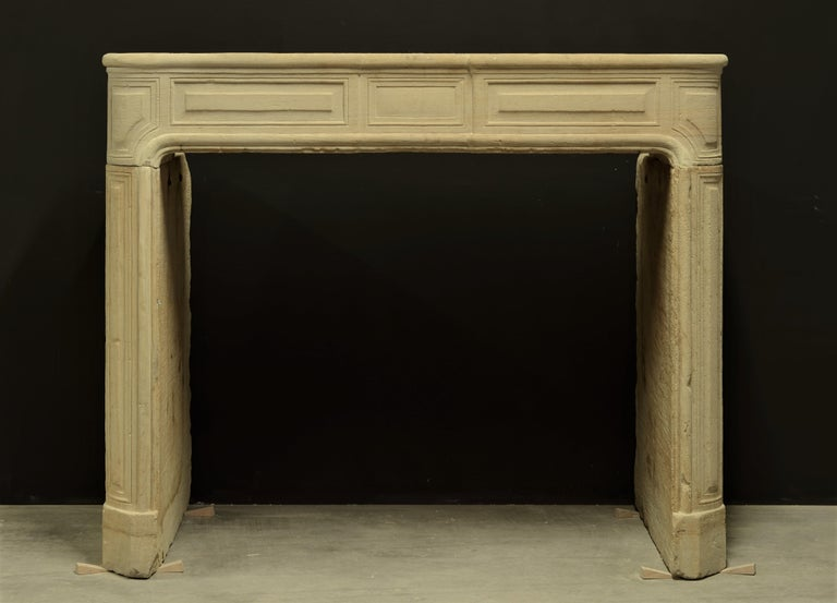 Antique Sandstone Louis XVI Fireplace Mantel