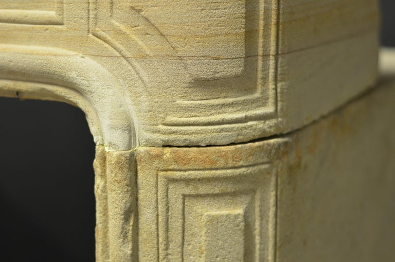 Antique Sandstone Louis XVI Fireplace Mantel For Sale 15
