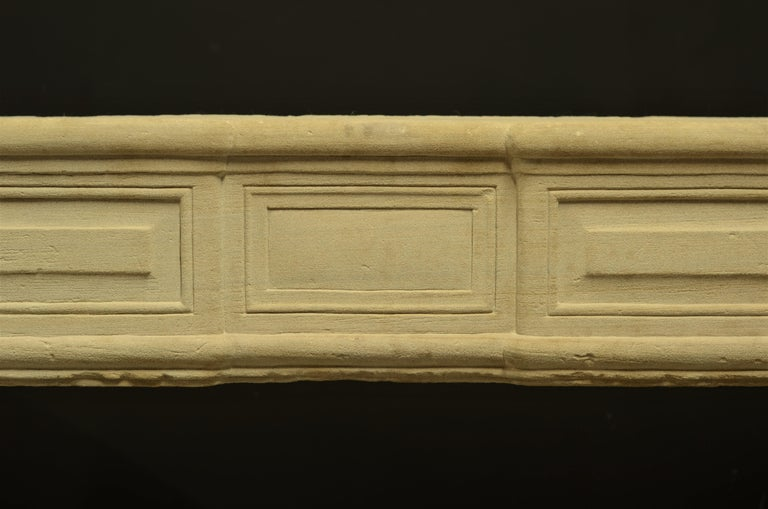 Antique Sandstone Louis XVI Fireplace Mantel For Sale 1