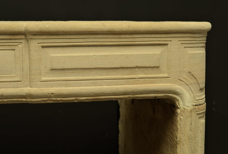 Antique Sandstone Louis XVI Fireplace Mantel For Sale 3