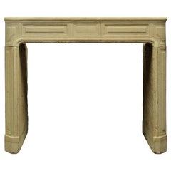 Antique Sandstone Louis XVI Fireplace Mantel
