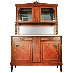 Antique Sandwood Mahogany Hutch or Cabinet