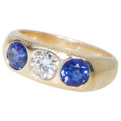 Antique Sapphire and Diamond Ring, circa 1900